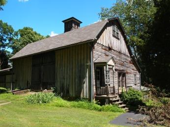 barn door and side entrance