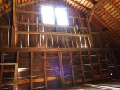 hay loft; view from ladder.