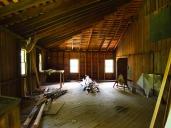 room over garage; view from small door.