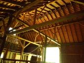 hay loft upper left, 3 rooms underneath.