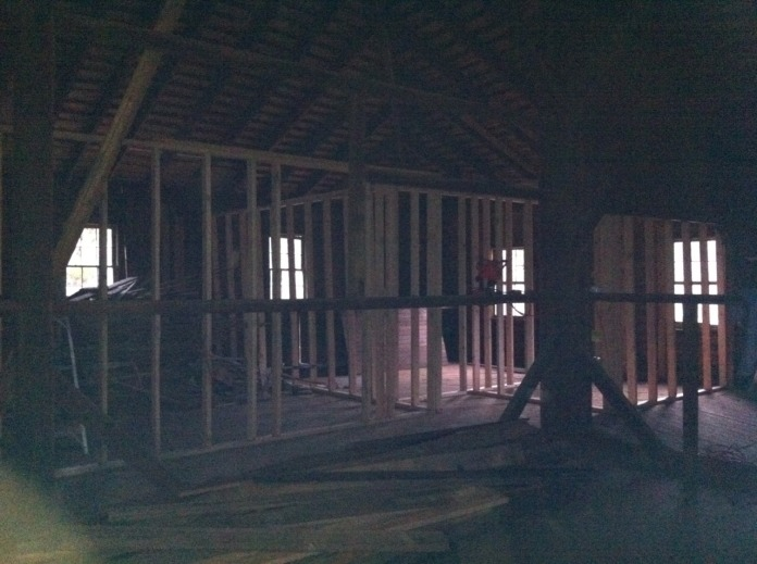 a lousy picture of all 3 framed rooms.