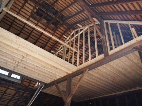 master bedroom, from barn doors.