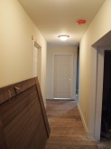 first floor hallway looking to bathroom.