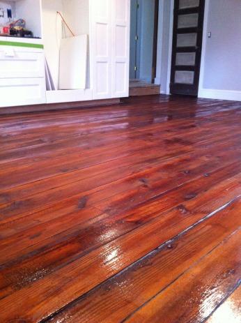 kitchen floor, poly coat no. 1