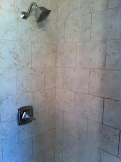 first floor bathroom shower.