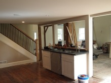 kitchen island / pass-through, looking into living room.