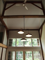 the new light fixture that will hang over the dining room table (to be built by my brother, tom, with wood from my great aunt's farm in pleasant mount).